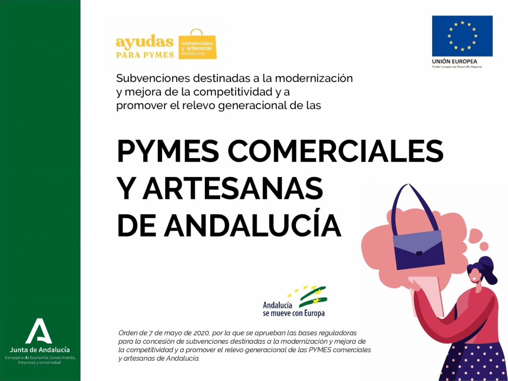 Cartel subvenciones modernización y mejora de la competitividad.